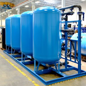 Marlo Quadraplex Industrial Water Softener Skid 07