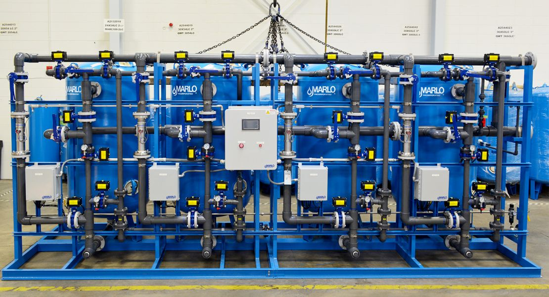 Marlo Quadraplex Industrial Water Softener Skid